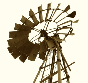 Broken down windmill