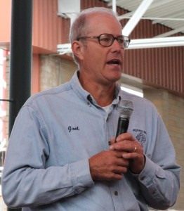 Joel Salatin of Polyface Farms speaking at the Mother Earth News Fair in Puyallup Washington on June 3, 2012.